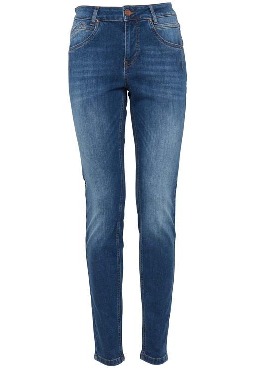 Pulz - PZCARMEN Highwaist Skinny Jeans - Medium Blue Denim
