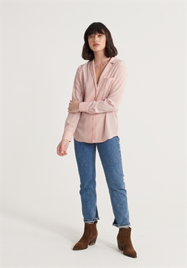 Superdry - Blair Revere Collar Blouse - Soft Pink