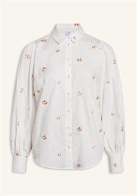 Love & Divine - Shirt - Love562-1 - White/Coral Flower