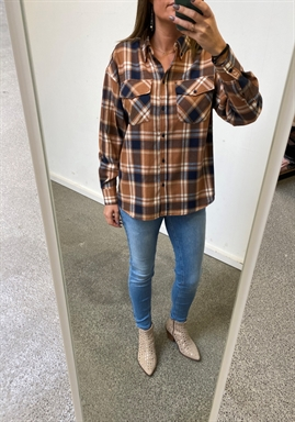 NORR - Lundby Shirt - Brown Check