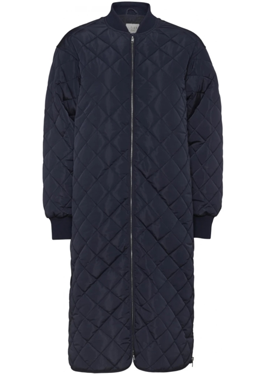 NORR - Talli Long Jacket - Dark Navy