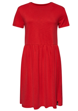 Superdry - Smocked T-Shirt Dress - Apple Red